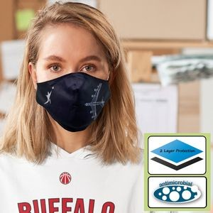 2-Ply Reusable Economy Face Mask with Bottom Fold