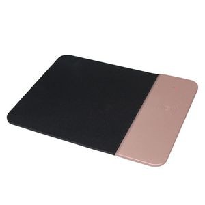 5W PU Leather Qi Wireless Charging Mouse Pad
